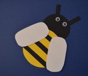 Biene basteln für Kids - so holst Du Dir den Frühling in