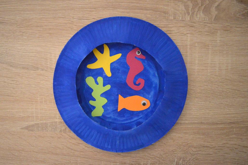 Aquarium basteln so tauchst du in die untiefen des for Blaue pappteller