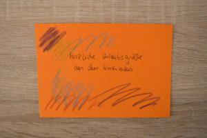 Postkarte basteln
