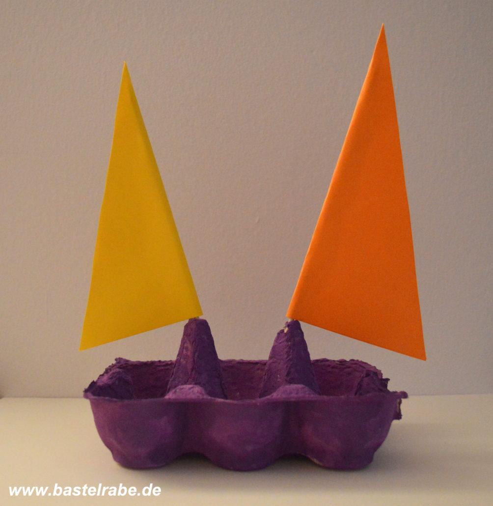 Segelboot Basteln So Eroberst Du Mit Einem Eierkarton Die Weltmeere